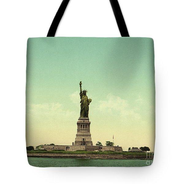 Statue Of Liberty, New York Harbor Tote Bag