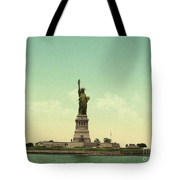 Statue Of Liberty, New York Harbor Tote Bag by Unknown