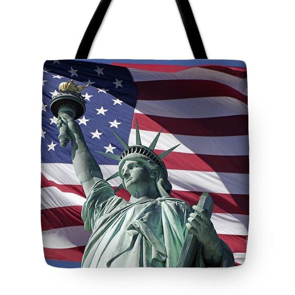 Tote Bag featuring the photograph Statue Of Liberty New York  by Juergen Held