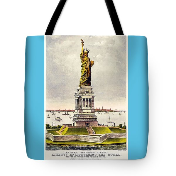 Statue Of Liberty Tote Bag by Pg Reproductions