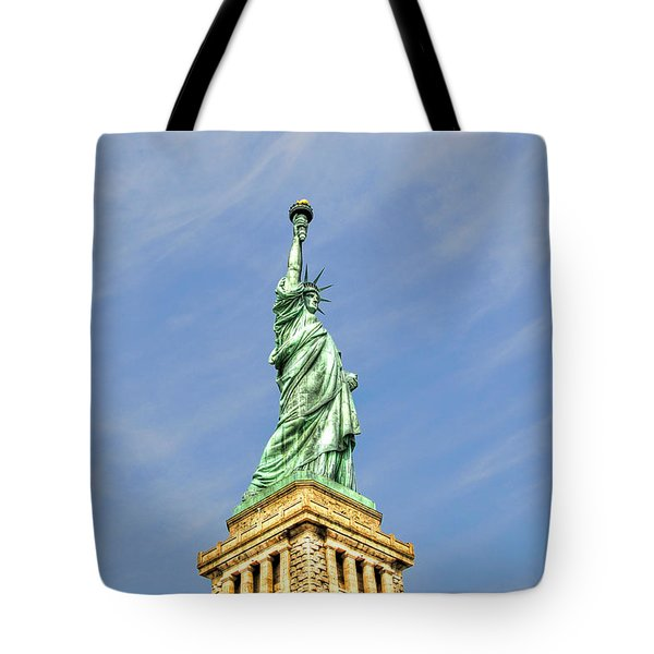 Statue Of Liberty Tote Bag by Randy Aveille
