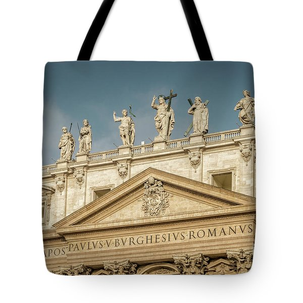 Statues Of St Peter's Basilica Tote Bag