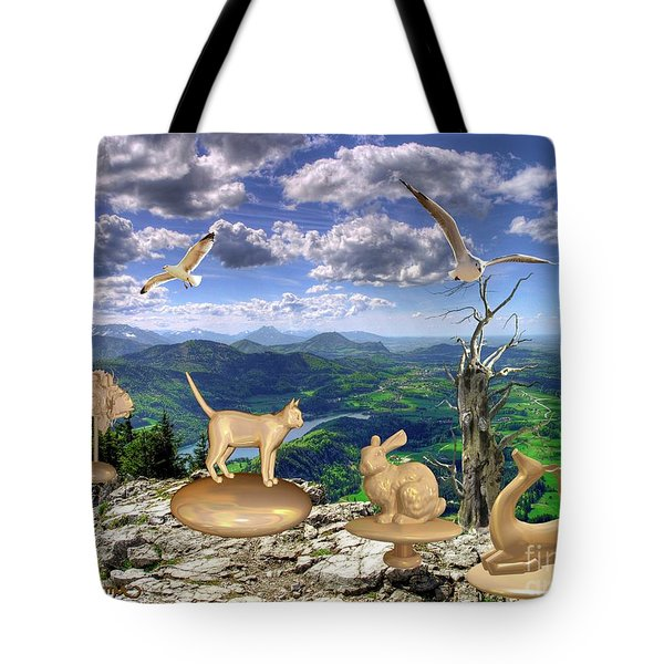 Statues Of The Rock Tote Bag