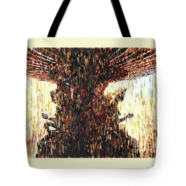 Tote Bag featuring the painting Statues On Las Vegas Fountain- Las Vegas, Nevada by Ryan Fox
