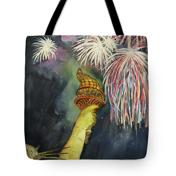 Statute Of Liberty Tote Bag by Lucia Grilletto