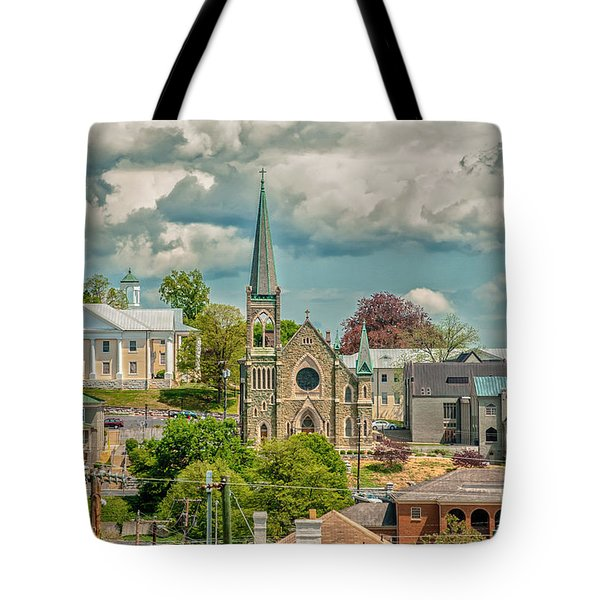 Staunton Cityscape Tote Bag by Jim Moore