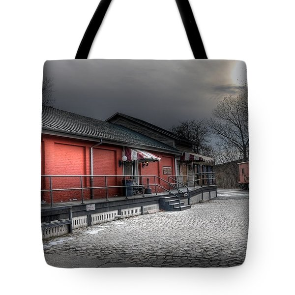 Staunton Va Train Depot Tote Bag by Todd Hostetter