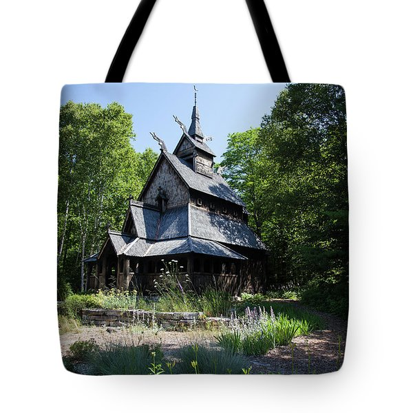 Stavkirke Church Tote Bag