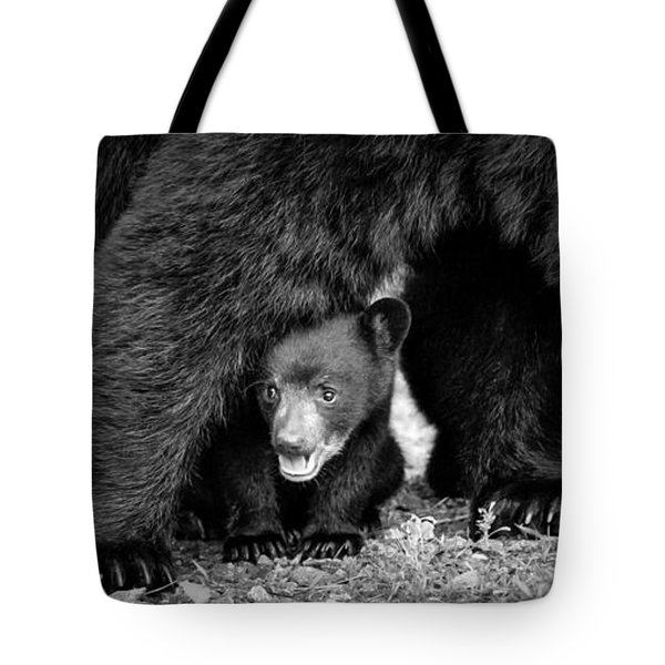 Staying Close-bw Tote Bag