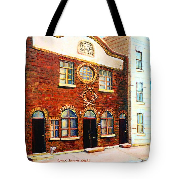 St.dominique Street Synagogue Tote Bag by Carole Spandau