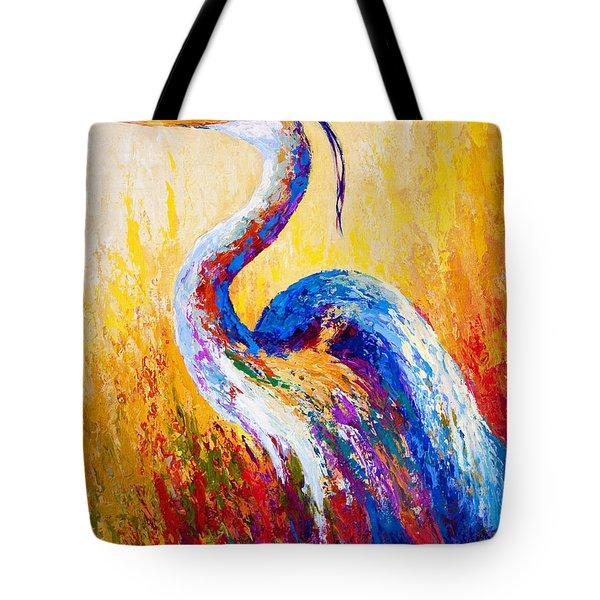 Steady Gaze - Great Blue Heron Tote Bag