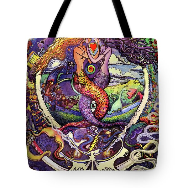 Steal Your Mermaids Tote Bag by David Sockrider