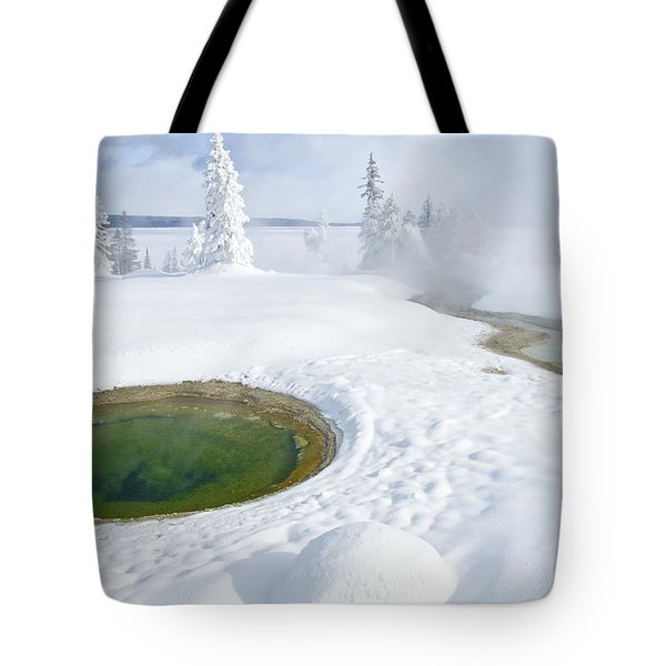 Steam And Snow Tote Bag by Gary Lengyel