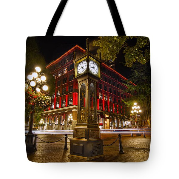 Steam Clock In Historic Gastown Vancouver Bc Tote Bag