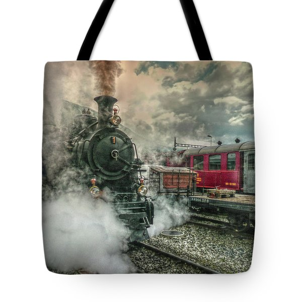 Tote Bag featuring the photograph Steam Engine by Hanny Heim