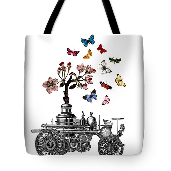 Steam Engine Of Life Tote Bag