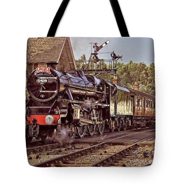 Steam Loco On Yorkshire Railway Tote Bag
