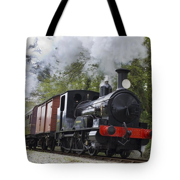 Steam Locomotive 3298 In Cornwall Tote Bag