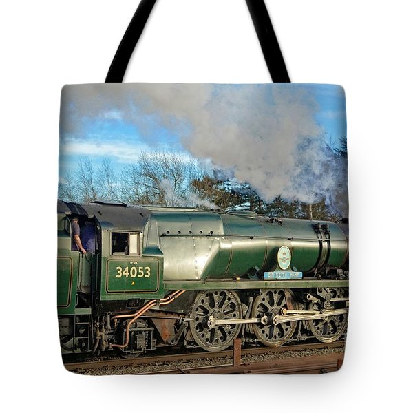 Tote Bag featuring the photograph Steam Locomotive Elegance by David Birchall