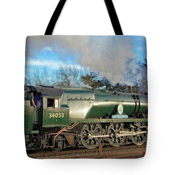 Steam Locomotive Elegance Tote Bag
