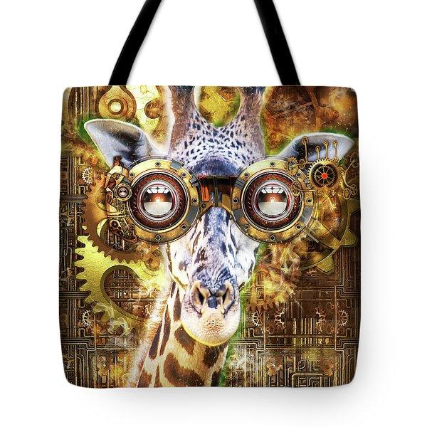 Steam Punk Giraffe Tote Bag