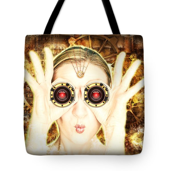 Steam Punk Lady With Bins Tote Bag