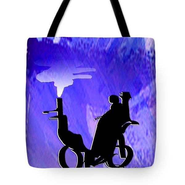 Tote Bag featuring the digital art Steam Rikshaw by Asok Mukhopadhyay