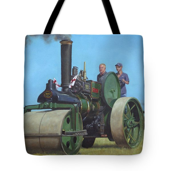 Steam Roller Traction Engine Tote Bag