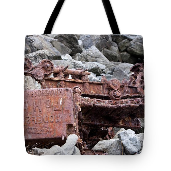 Steam Shovel Number One Tote Bag by Kandy Hurley