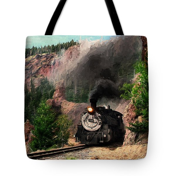 Tote Bag featuring the photograph Steam Through The Rock Formations by Ken Smith