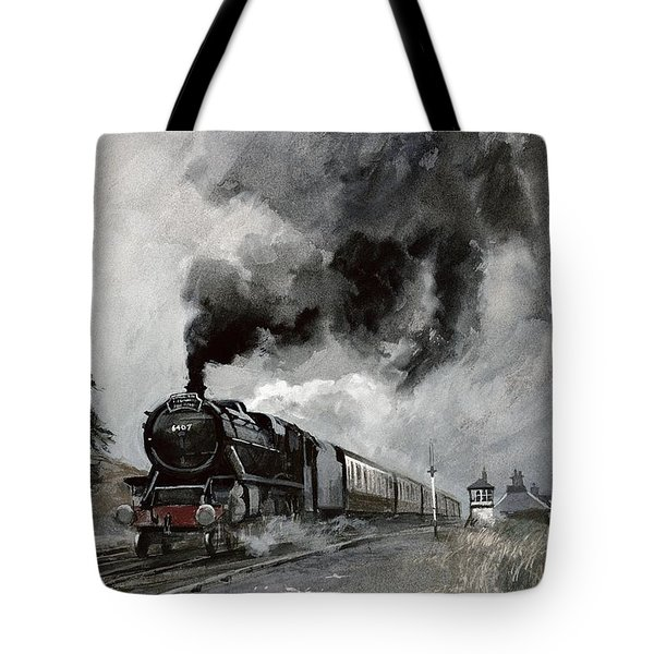 Steam Train At Garsdale - Cumbria Tote Bag