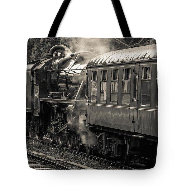 Steam Train Tote Bag by David Warrington