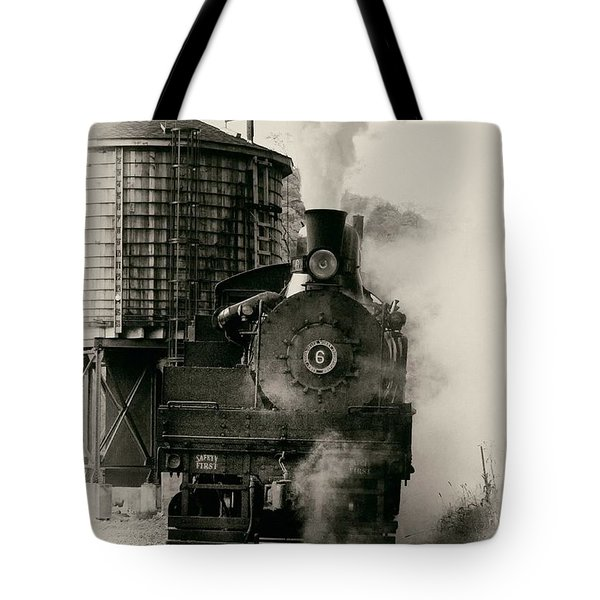 Tote Bag featuring the photograph Steam Train by Jerry Fornarotto
