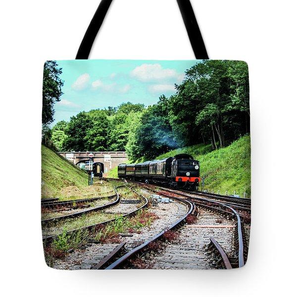 Steam Train Nr The Bridge Tote Bag