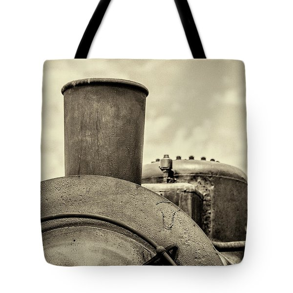 Tote Bag featuring the photograph Steam Train Series No 2 by Clare Bambers