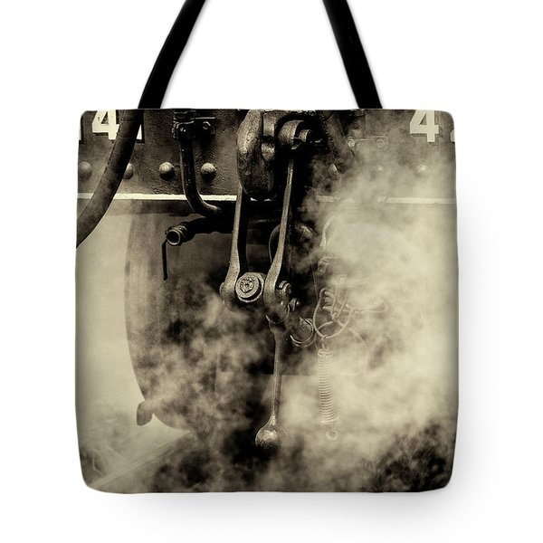Tote Bag featuring the photograph Steam Train Series No 4 by Clare Bambers