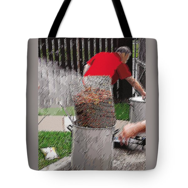 Steaming Mud Bugs For Falvor Tote Bag