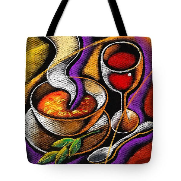 Steaming Supper Tote Bag by Leon Zernitsky