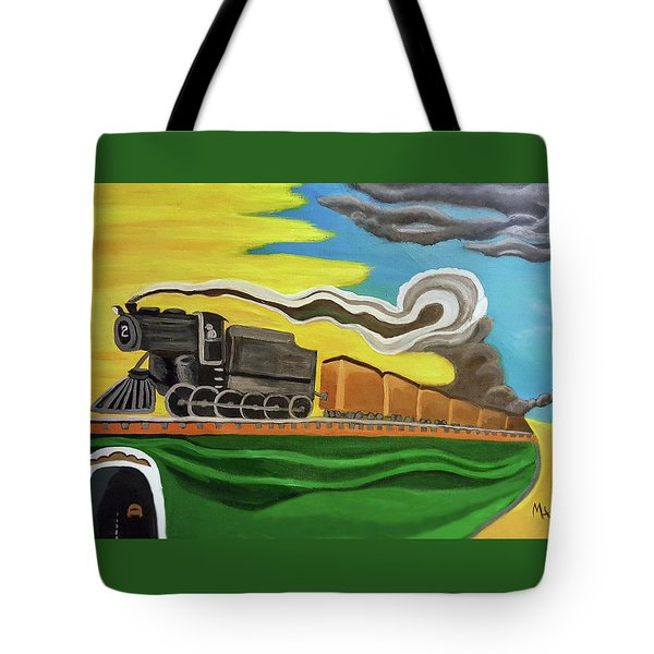 Steaming West Bound Tote Bag