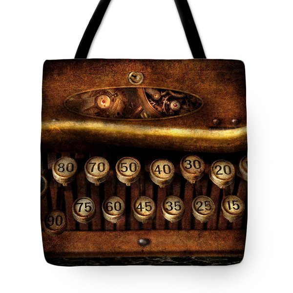 Steampunk - Remuneration Mechanism Tote Bag by Mike Savad