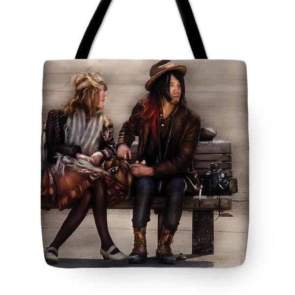 Steampunk - Time Travelers Tote Bag by Mike Savad
