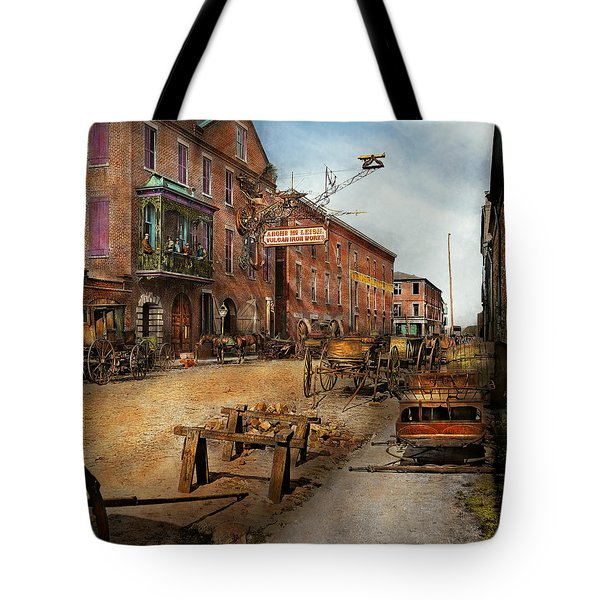Steampunk - Archibald Mcleish's Vulcan Iron Works 1865 Tote Bag