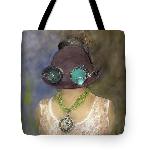 Steampunk Beauty With Hat And Goggles - Square Tote Bag
