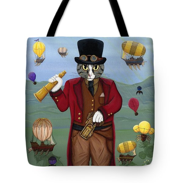 Steampunk Cat Guy - Victorian Cat Tote Bag
