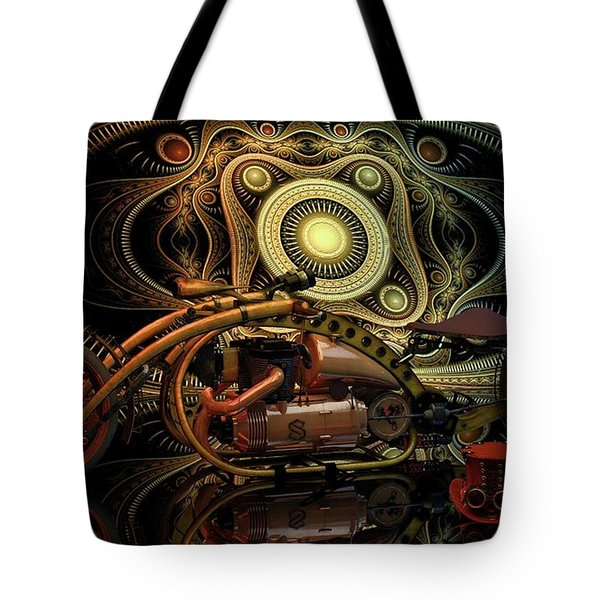 Steampunk Chopper Tote Bag