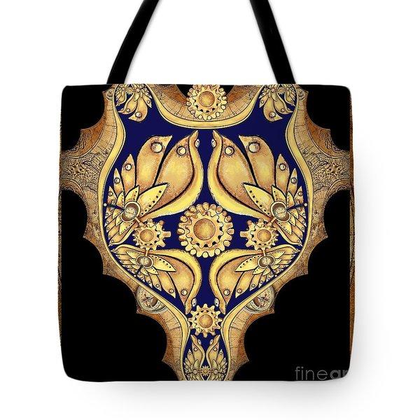 Steampunk Fantasy Fractal Tote Bag