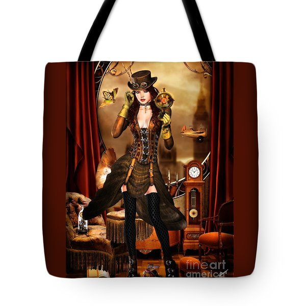 Steampunk Girl Tote Bag