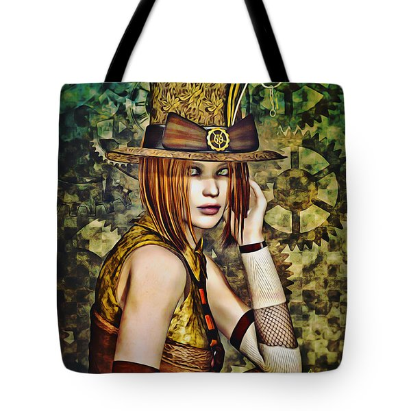 Steampunk Girl Two Tote Bag