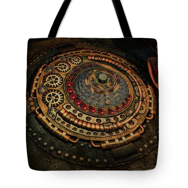 Steampunk Tote Bag by Louis Ferreira