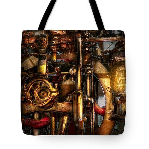 Steampunk - Mechanica  Tote Bag by Mike Savad